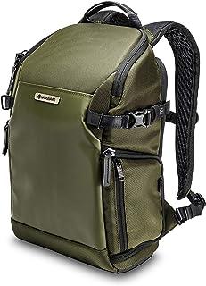 Vanguard Veo Select 37BRM GR - Mochila fotográfica para cámara sin espejo, acceso posterior y lateral, color Verde