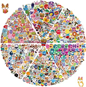 600pcs Mini Stickers Pack, Mixed Small Stickers for Phone Case, Waterproof Stickers for Scrapbook, Water Bottles, Journal, Planner, Cute Kids Stickers Decals for Tenns, Adults