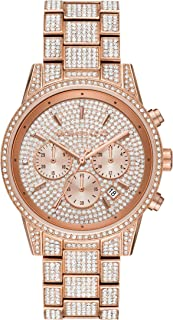 Women's Ritz Quartz Watch with Stainless Steel Strap, Rose Gold, 20 (Model: MK6748)