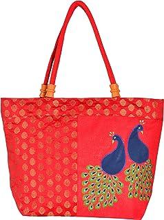Roy Jute Handicrafts Women's Shoulder Bag (RJH 23_Red)
