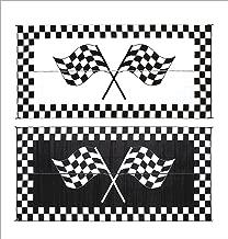 MingFTs Mark RH8111 Reversible RV Patio Mat Black /& White Home Design 8FT x 11FT