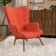 Christopher Knight Home Hariata Arm Chair, Muted Orange