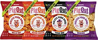 PigOut Pigless Pork Rinds | High Protein & Low Sugar | Plant-Based, Gluten Free, Kosher, Non-GMO | Variety Pack 1 oz, 24 Pack