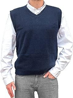 TINKUY PERU - Peruvian Alpaca Wool - Vest for Men Basic V Neck Sweater Pullover