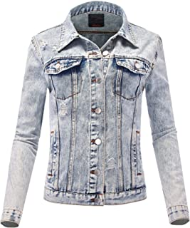 FashionMille Women Washed Denim Jacket