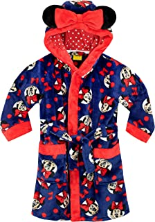 Toddler Girl Bath Robes Minnie Mouse Plush Long Little Kids Robe