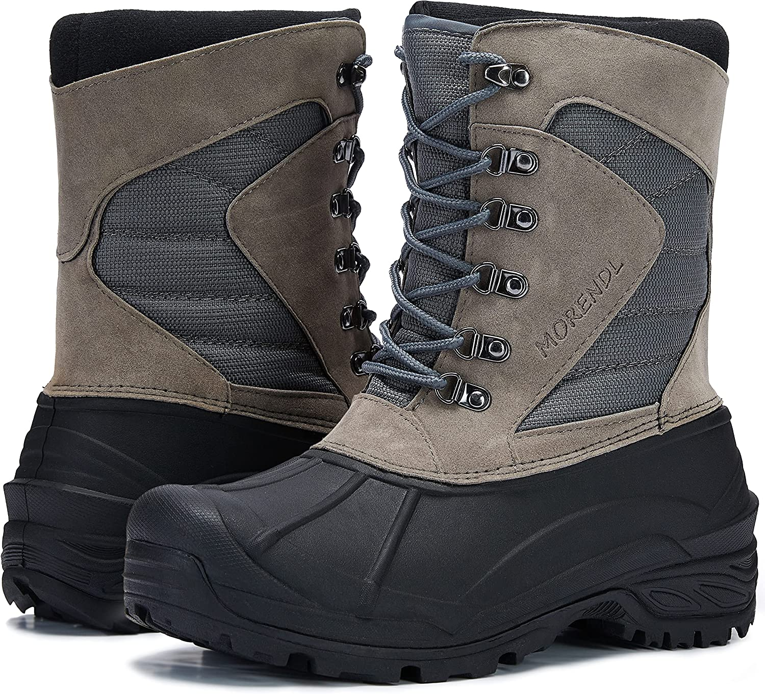 MORENDL Men's Manufacturer direct Las Vegas Mall delivery Winter Snow Boots Insulated Waterproof Non-Slip So