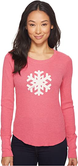 Life is Good - Snowflake Long Sleeve Waffle Tee