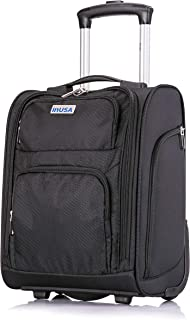 InUSA Underseat Carry on Luggage - Under Seat Ultra-Light and Small 15'' inch Wheel - Designed for Most Airlines Underseater - Ergonomic Push Button Locking Handle
