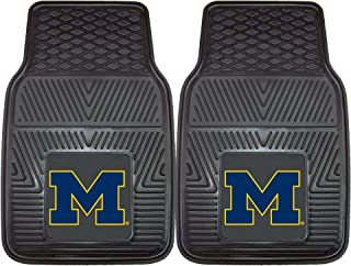 CC Sports Decor NCAA University of Michigan Wolverines 2-PC Vinyl Front Car Mat Set, Universal Size