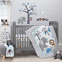 Grey Elephant Fitted Crib Sheet 100/% Cotton Baby Girl and Boy Jungle Animal Theme Nursery and Toddler Bedding