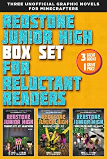 Redstone Junior High Box Set for Reluctant Readers: High-Interest, Illustrated Graphic Novels for Minecrafters