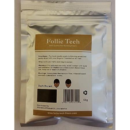 Follic Tech Hair Building Fibers 58 Grams (Dark Brown)