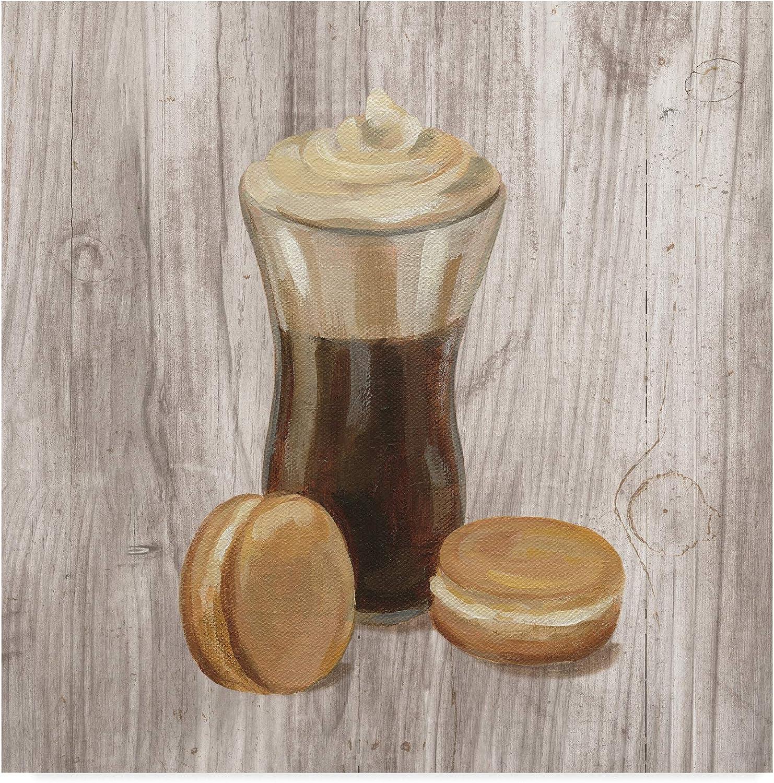 Trademark Fine Art Coffee Time I on Wood by Silvia Vassileva, 14x14 Fine Art, Multicolor