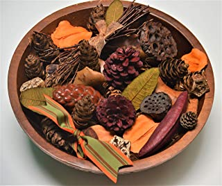 Autumn Redwood Potpourri~ Large Beautiful Potpourri Bag~ Over 12oz of Beautiful Natural pods to Welcome The Season~ Browns, Reds, Yellow and Naturals. Made in The USA!