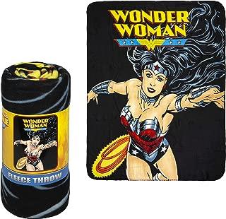 Fleece Throw Blanket - Wonder Woman Logo - Lightweight Faux Fur Fleece Blanket Large 50