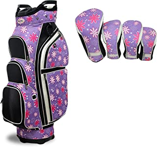 Taboo Fashions Allure Lightweight Carry/Cart Bag Bundle with Club Covers