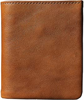 Vintage Leather Wallet Brown For Men Sophisticated Look Cow Hide Leather