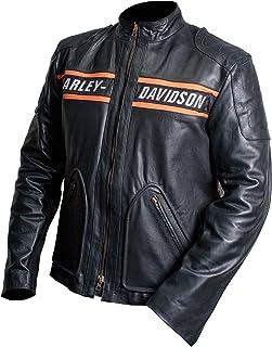Bill Goldberg Motorcycle Screaming Eagle Black HD Cow Leather Jacket