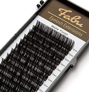 Fabu Individual Classic Eyelash Extensions, Thickness/Diameter 0.12, C Curl, ONE LENGTH PER TRAY (12mm)