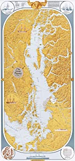 Sobay Map P002 - Inside Passage to Stuart Island (Salish Sea) - 27x58 Wall Map - Paper or Laminated (Paper)