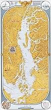 Sobay Map P002 - Inside Passage to Stuart Island (Salish Sea) - 27x58 Wall Map - Paper or Laminated (Paper)