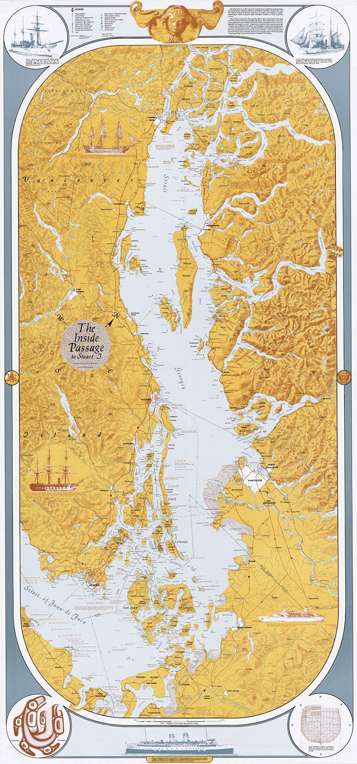 Mapa de Sobay – Paso interior a la isla Stuart (mar de España) – Papel: Amazon.es: Hogar