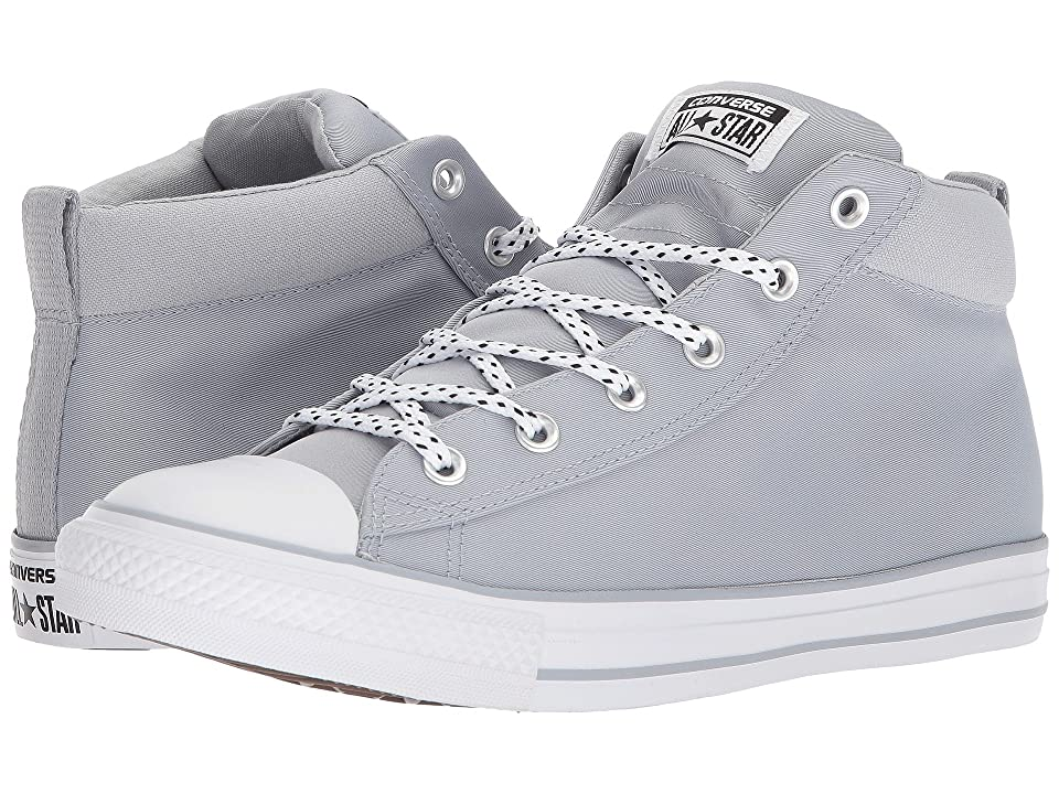 Converse Chuck Taylor(r) All Star(r) Street Woven Block Mid (Wolf Grey/Black/White) Men