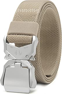 """Chaoren Mens Quick Release Tactical Belt 1.5"""", Casual Military Riggers Work Belts for Men - - Large"""