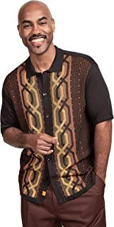 Edition S Men's Short Sleeve Knit Shirt - California Rockabilly Style Chain Links Design