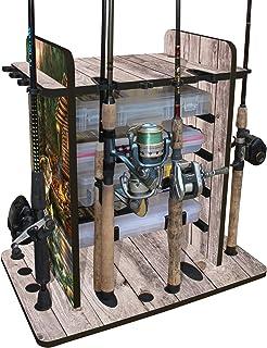 Inkach Fishing Stick Holder Fishing Rod Pole Holder Ground Stand Baitcaster Spincast Folding Rack Fishing Lures