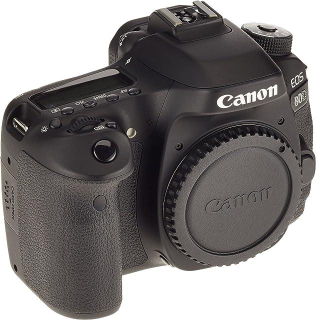 Canon EOS 80D 24.2MP CMOS 6000 x 4000Pixeles Negro - Cámara digital (Auto Nublado Modos personalizados Luz de día Flash Fluorescente Sombra Tungsteno Película Imagen única Batería Cuerpo de la cámara SLR TTL Automático/Manual) [Importado]