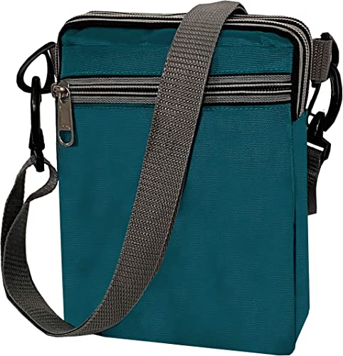 Travel Neck Pouch Sling Bag 23x16x7cm Turquoise