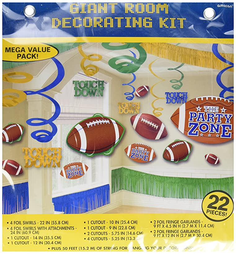 Amscan Football Giant Room Party Decorating Kit