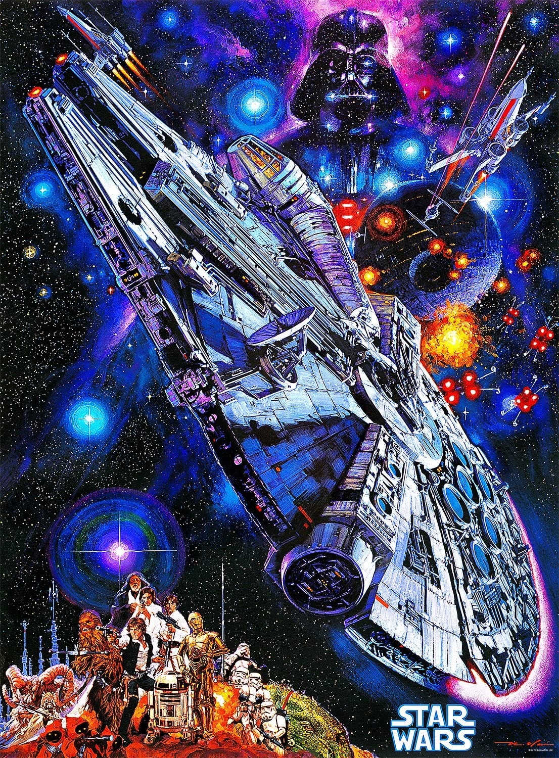 11. Star Wars Vintage Art: You're All Clear, Kid (1000 Piece Jigsaw Puzzle)