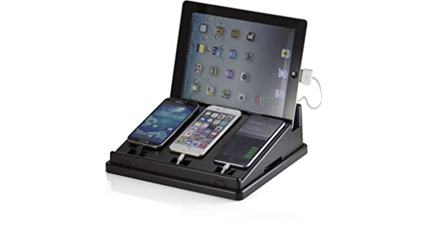 22505 Black Officemate OIC Universal Multi-Device Charging Station for Smart Phones /& Tablets