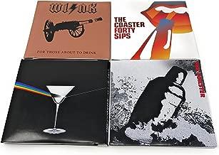 Wild Eye Designs Vinyl LP Classic Rock Record Silicone Drink Holder Coaster Set (Complete Set)