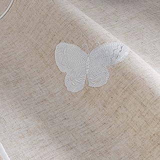 Le Jardin des Cigales 3003365 OPALINE Chemin de table Polyester Blanc 140 x 40 cm