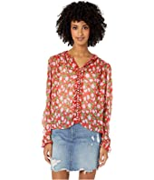 The Kooples - Flower Print Top