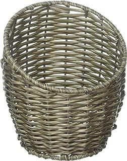 Whitmor Rattique Vase-Distressed Gray