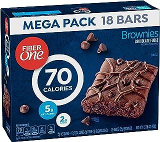 Fiber One Brownies, 70 Calorie Bar, 5 Net Carbs, Snacks, Chocolate Fudge, 18ct