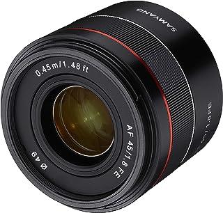 Samyang AF 45 MM F1.8 FE Sony E - Objetivo de Formato Completo para cámaras Sony Alpha sin Espejo (Montura FE y E Formato Completo Sensor APS-C Rosca de 49 mm)