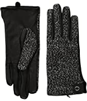 Calvin Klein - Woven/Leather Mix Gloves