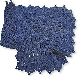 Navy Blue Hand-Crocheted Baby Afghan