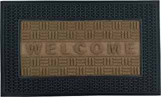 Superio Basket Weave Design 18x30, Indoor and Outdoor Entry Floor Mat with Welcome Word Printed Durable Doormat for Home, ...