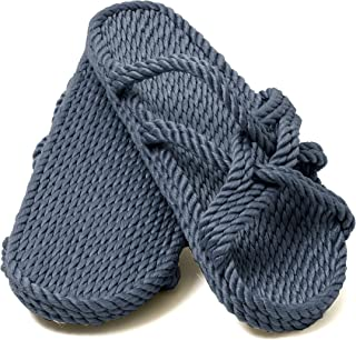 Nomadics Slip On Sandales unisexe en corde denim pour adulte