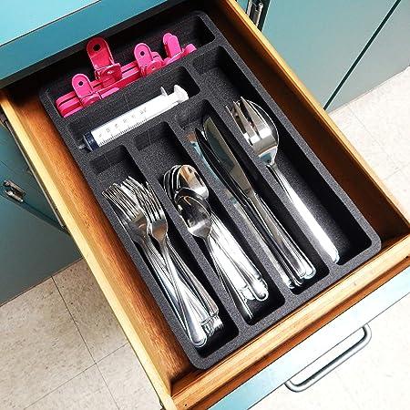 RV Cutlery Tray Small Utensil Holder Mesh Kitchen Drawer Organizer Silverware