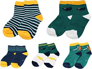 Colourful Baby World, Bebé Niño Niño Verde Marino Amarillo Cocodrilo Rayas Tobillo Calcetines