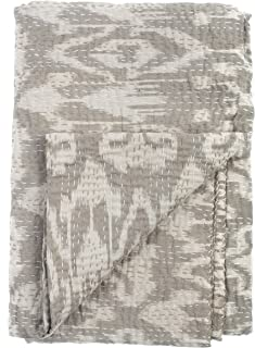 Ikat Quilt - Grey - 2 Layer 100% Organic Cotton - Twin (60