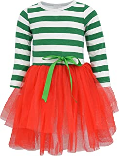 Unique Baby Girls Christmas Dress with Tutu